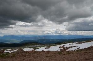 Schnee im Juni am Ritten