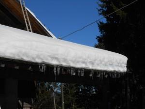 März 2014: Schnee beim Wallfahrtsort Maria Weißenstein