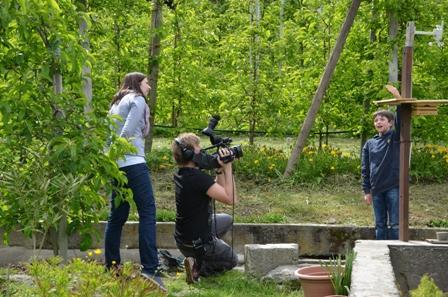 Filmteam aus München kommt mich besuchen: Ich zeige ihnen meine Wetterstation.